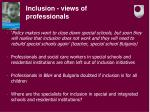 inclusion views of professionals