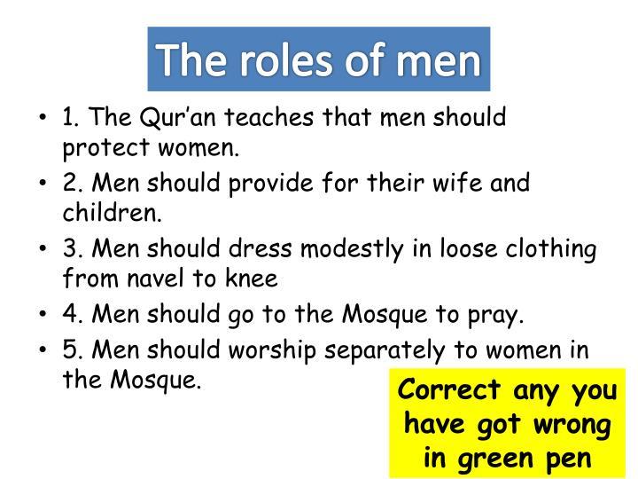 The roles of men