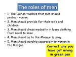 the roles of men