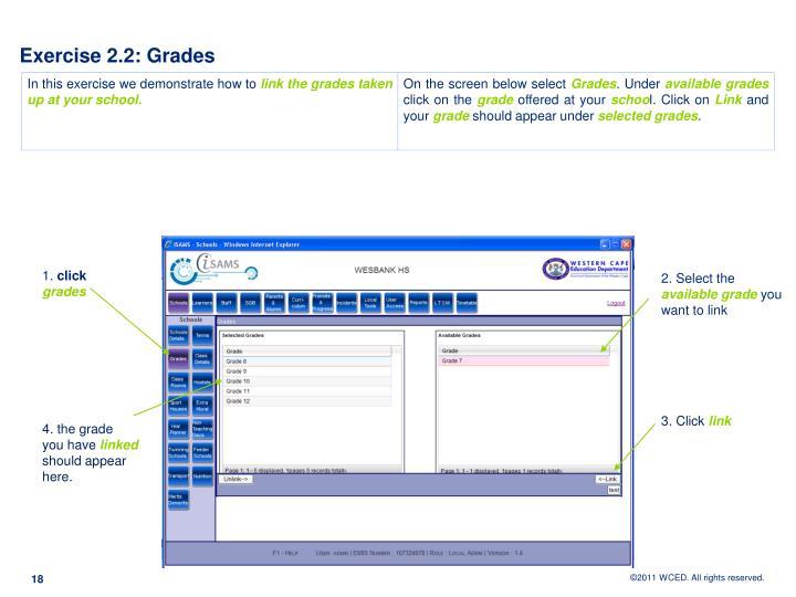 Exercise 2.2: Grades
