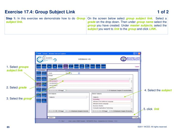 Exercise 17.4: Group Subject Link