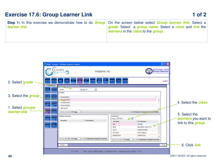 Exercise 17.6: Group Learner Link		                                       1 of 2