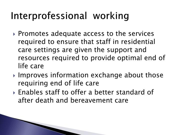 inter professional working and the impact it Professional development  multi-agency working is about providing a seamless response to  a guide to inter-agency working to safeguard and promote the.