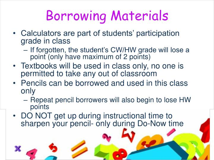 Borrowing Materials