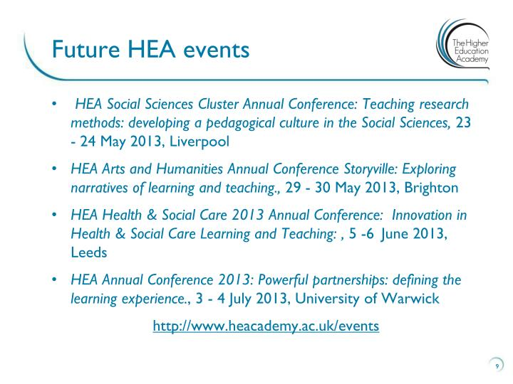 Future HEA events