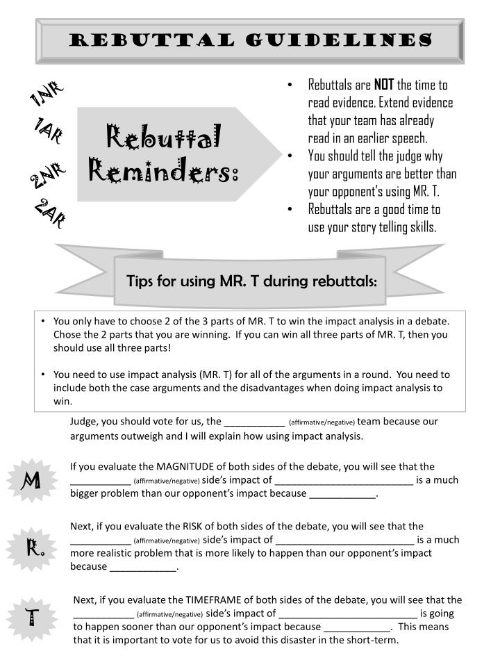 Rebuttal Guidelines