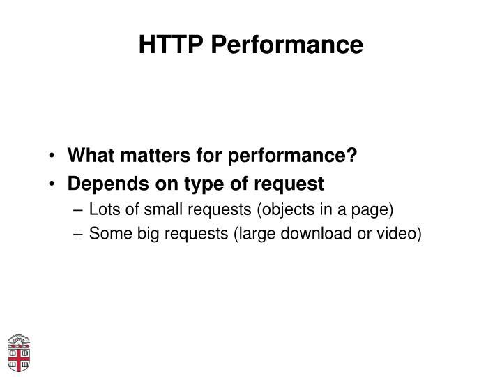 HTTP Performance