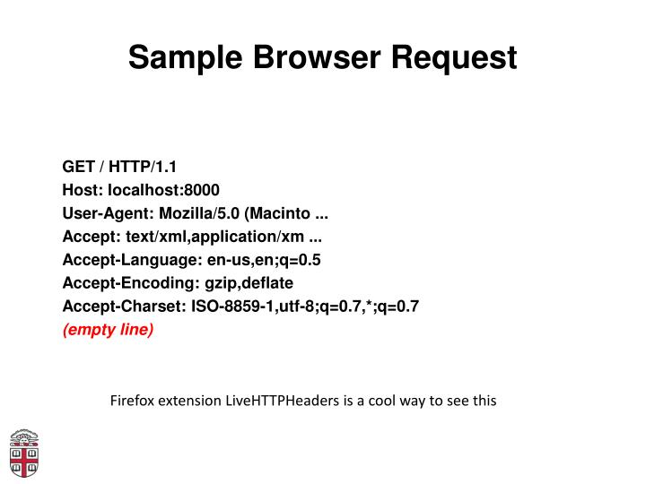 Sample Browser Request