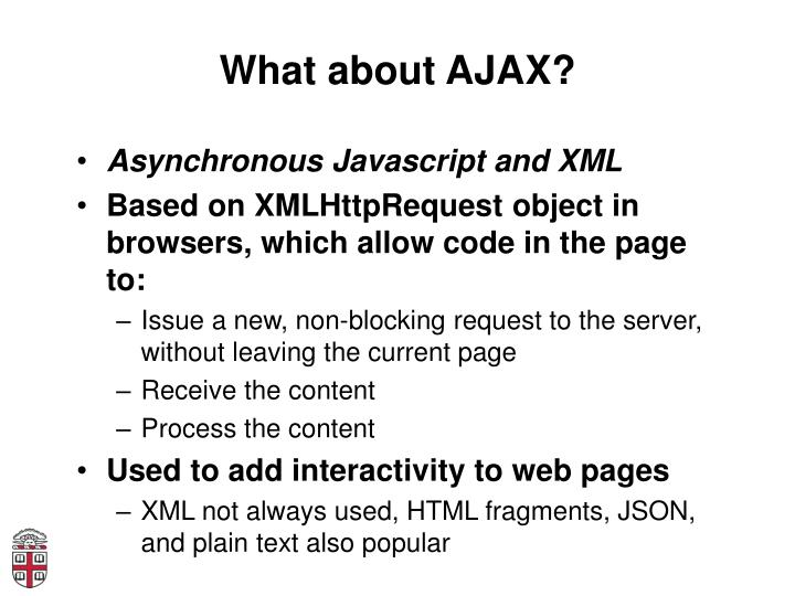 What about AJAX?