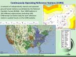 continuously operating reference stations cors