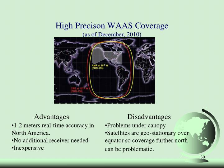 High Precison WAAS Coverage