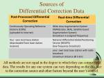 sources of differential correction data