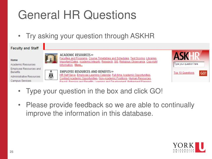 General HR Questions