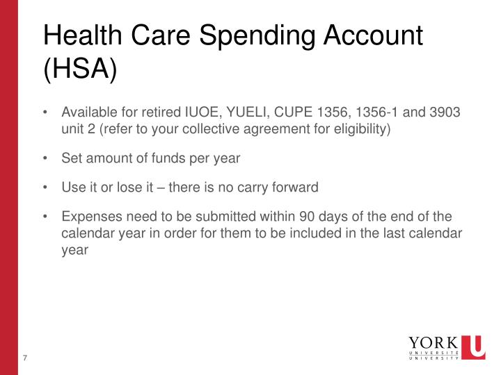 Health Care Spending Account (HSA)