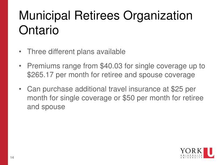 Municipal Retirees Organization Ontario