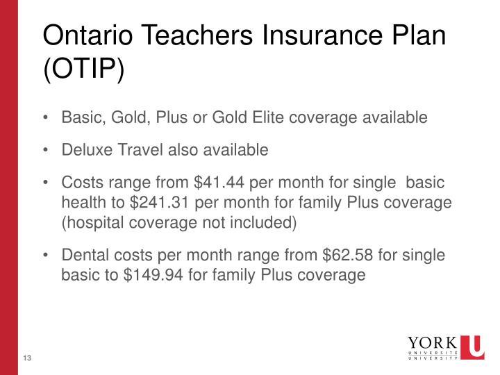 Ontario Teachers Insurance Plan (OTIP)