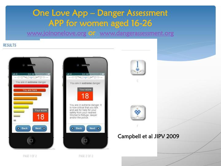 One Love App – Danger Assessment