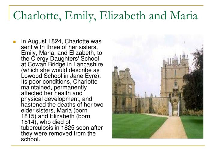 Charlotte, Emily, Elizabeth and Maria