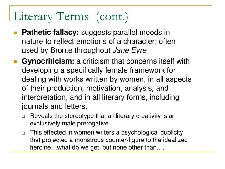 Literary Terms  (cont.)