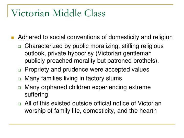 Victorian Middle Class