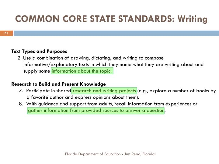 how to write common core standards The common core state standards include english language write courtesy titles correlations to the common core state standards for english language arts.