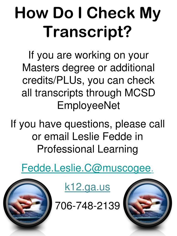 How Do I Check My Transcript?