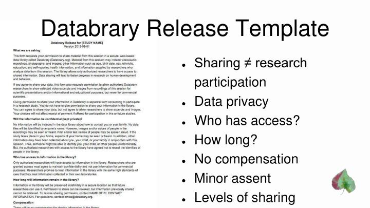 Databrary Release Template