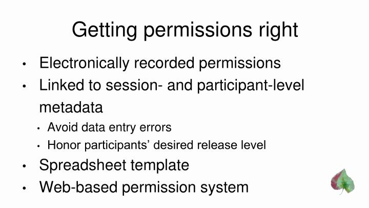 Getting permissions right
