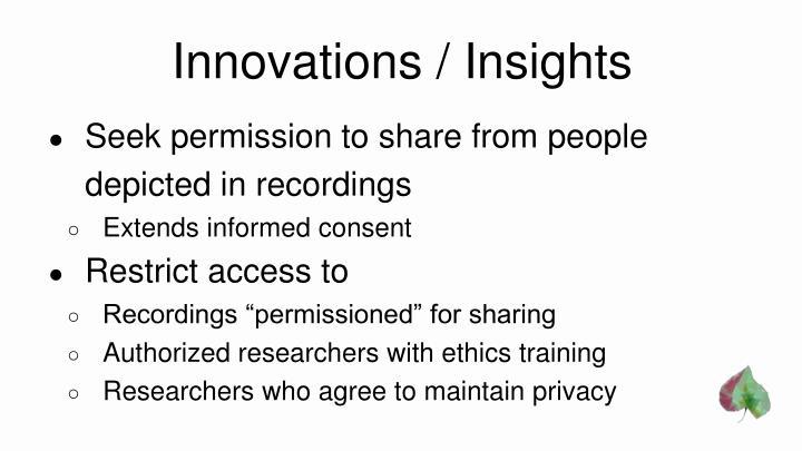 Innovations / Insights