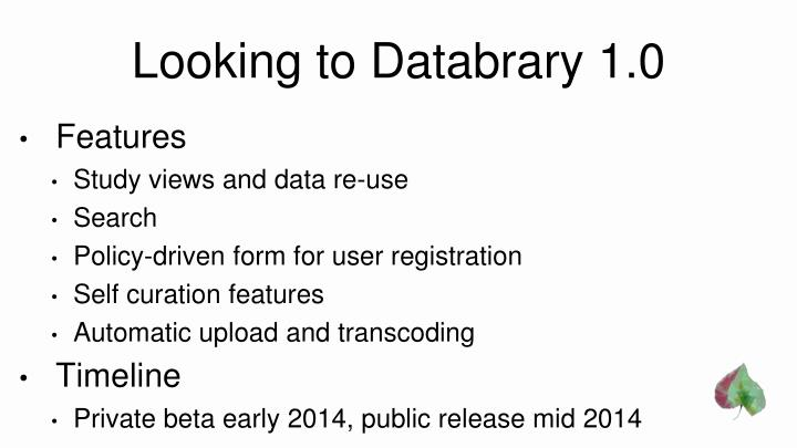 Looking to Databrary 1.0