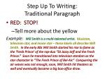 step up to writing traditional paragraph2