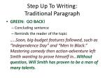 step up to writing traditional paragraph3