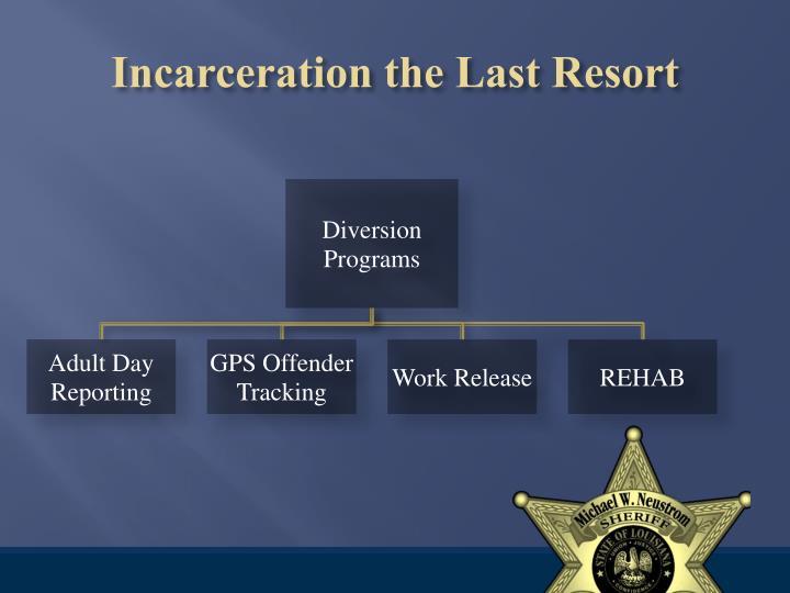 Incarceration the Last Resort