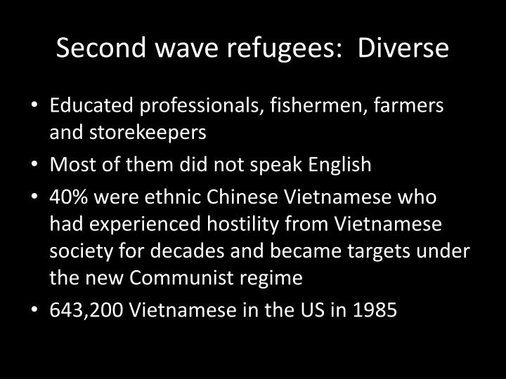 Second wave refugees:  Diverse