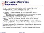furlough information employees