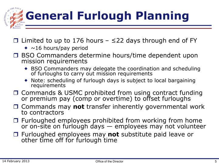 General Furlough Planning