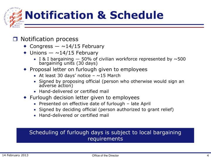 Notification & Schedule