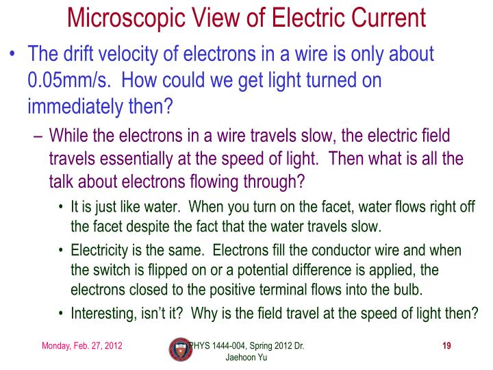 Microscopic View of Electric Current