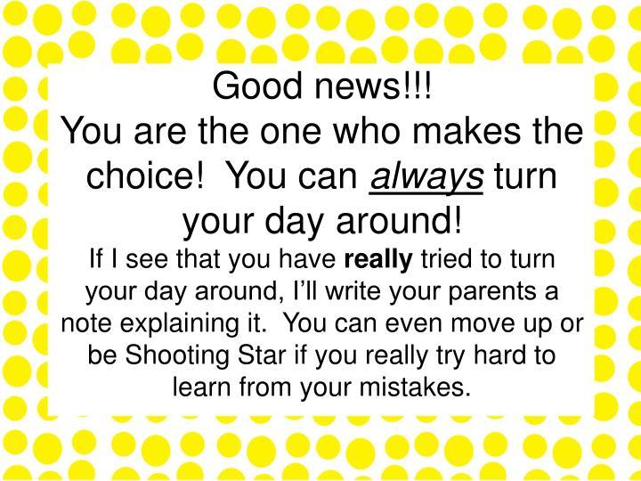 Good news!!!