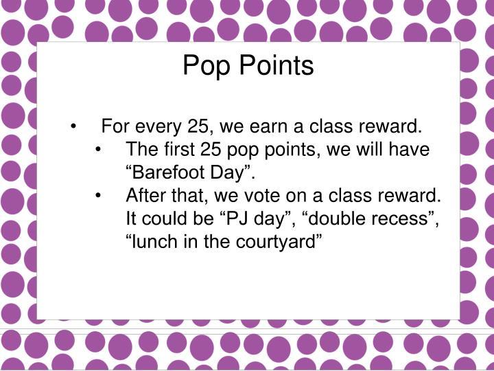 Pop Points