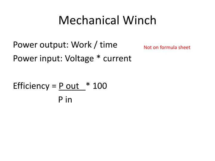 Mechanical Winch