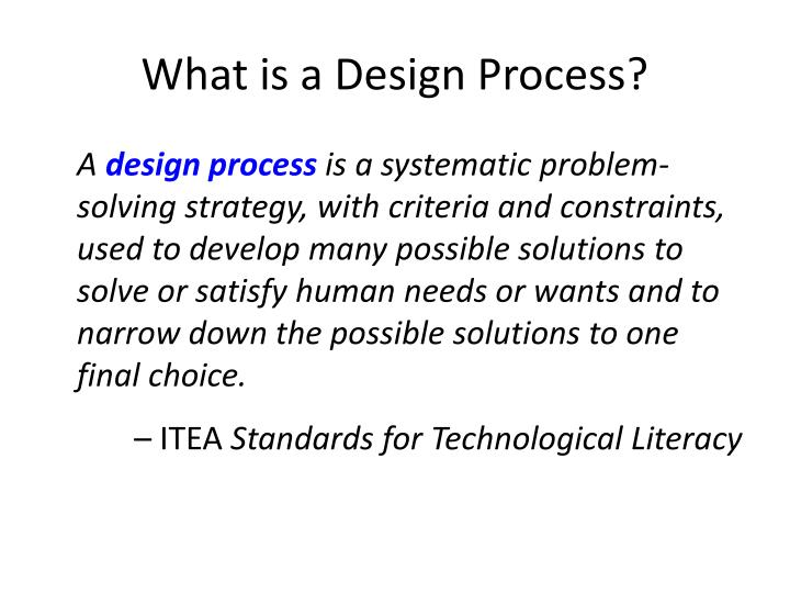 What is a Design Process?