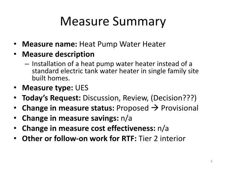 Measure Summary