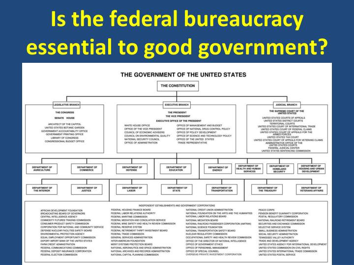 PPT - Is the federal bureaucracy essential to good government ...