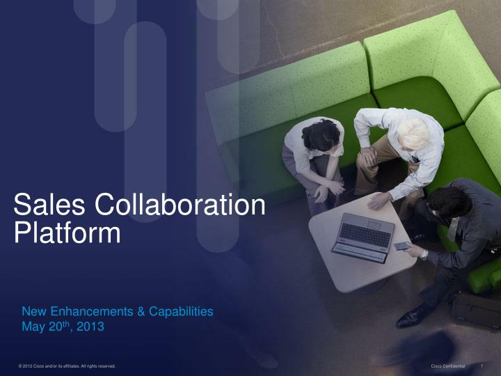 Sales collaboration platform
