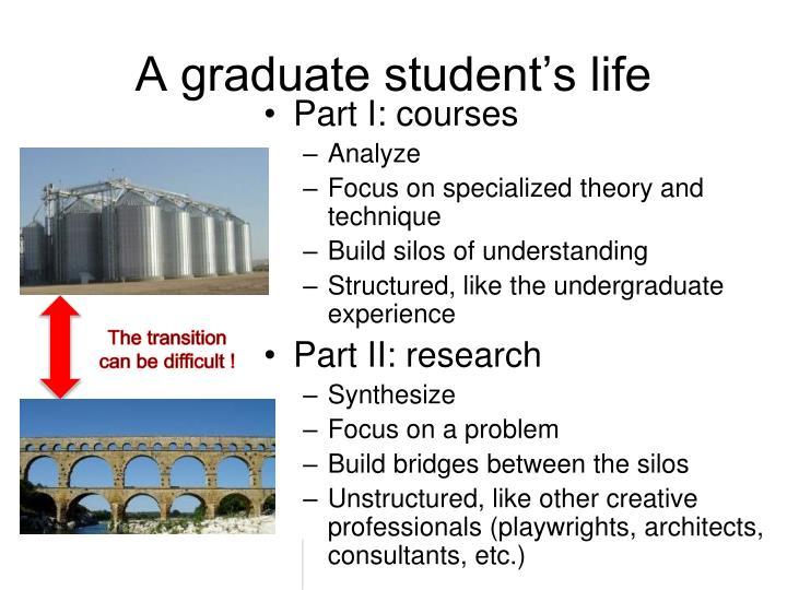 A graduate student's life