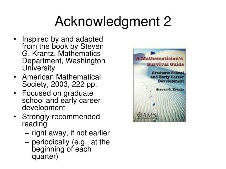 Acknowledgment 2