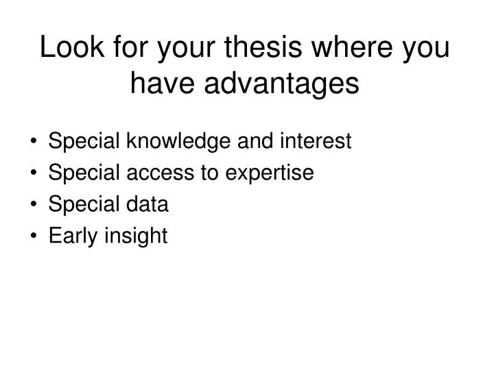 Look for your thesis where you have