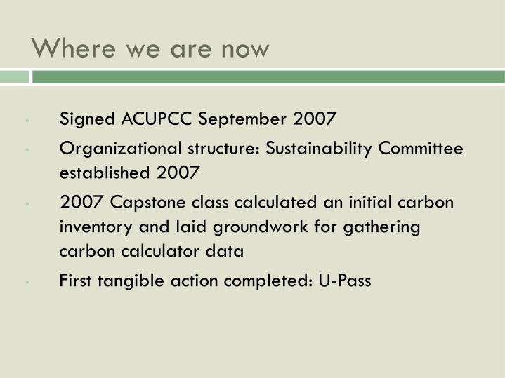 Signed ACUPCC September 2007