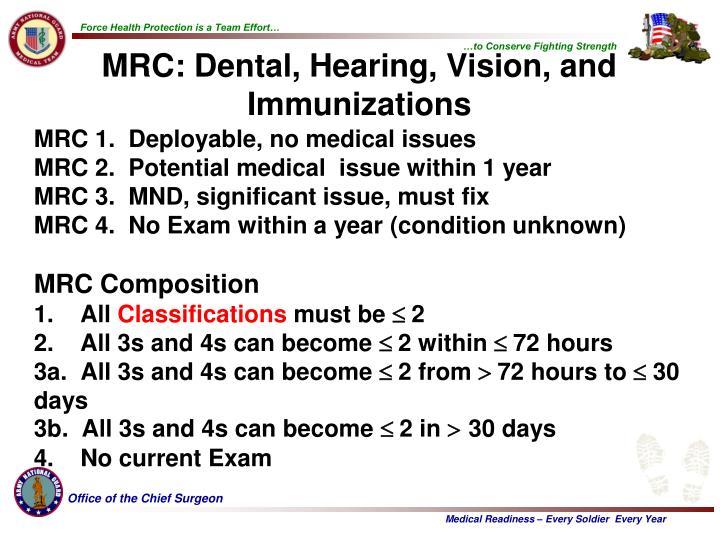medical readiness code 3b